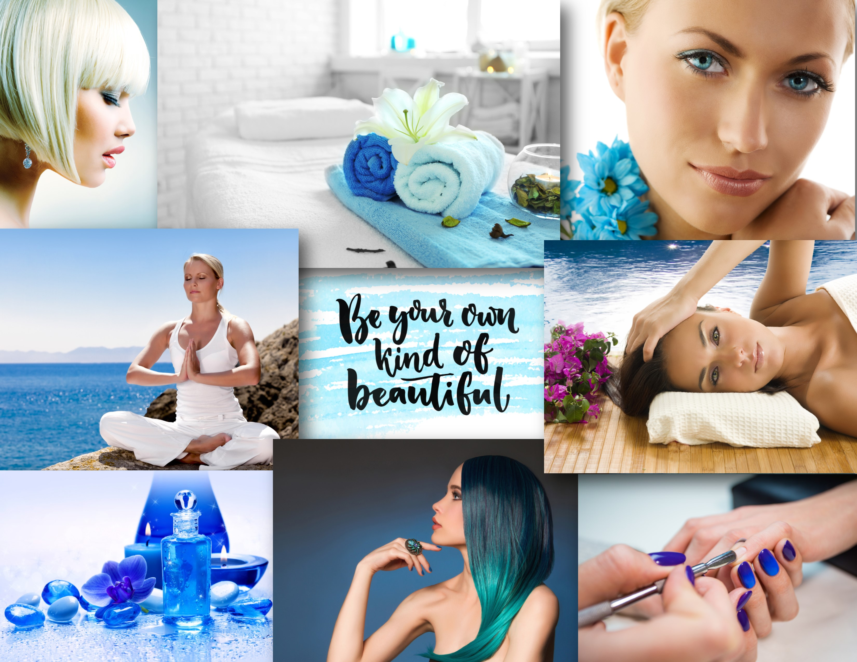 Skin Renewal Collage of Salon and Spa Pics