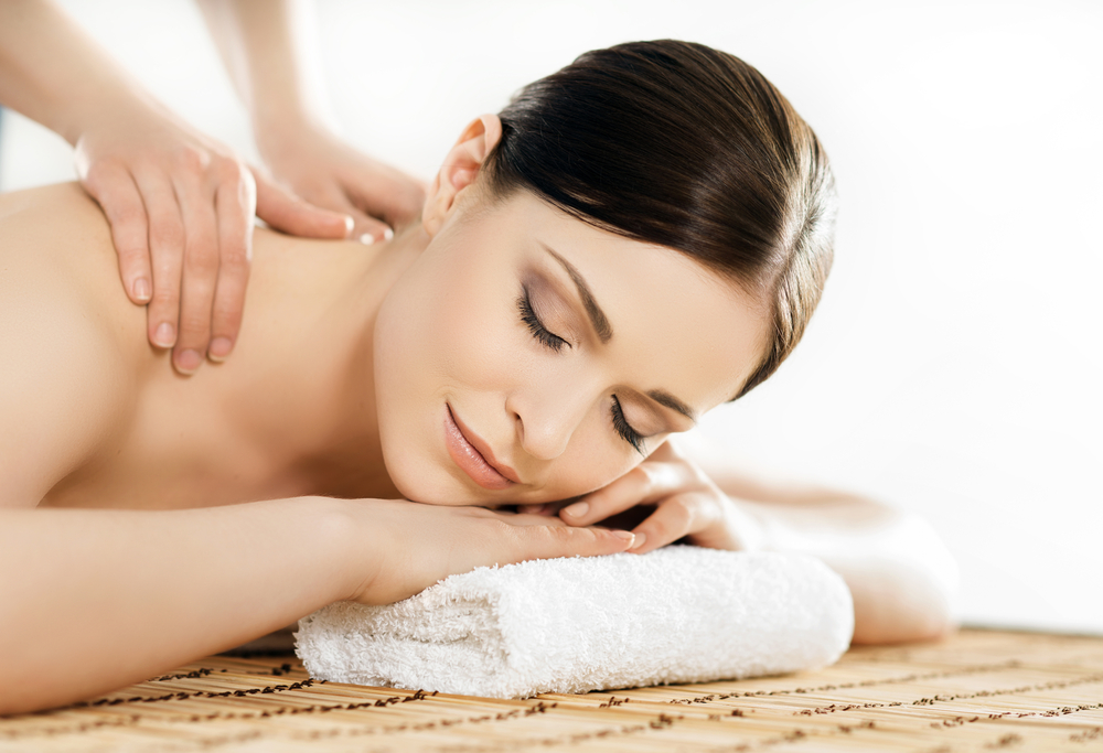 Skin Renewal Massage, woman getting back massage